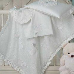 Copertina Blumarine culla Baby Cerimonia Bianco